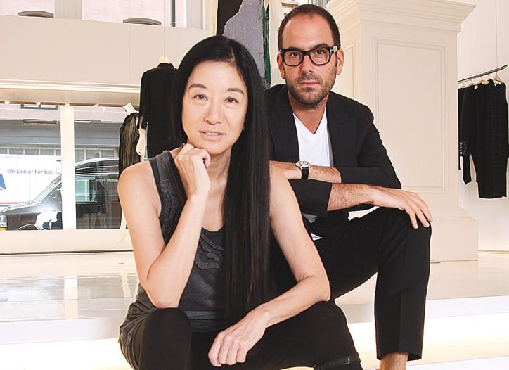 Vera Wang and Mario Grauso in her Mercer Street store.