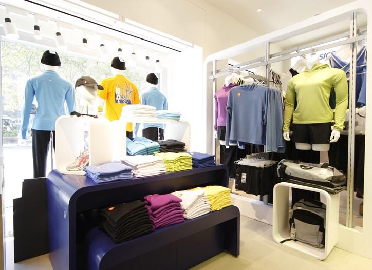 Inside the new Asics store.