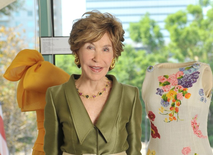 Betsy Bloomingdale in Oscar de la Renta at the Fashion Institute of Design and Merchandising.