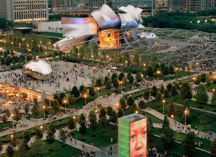 Millennium Park is home to Fashion Focus.