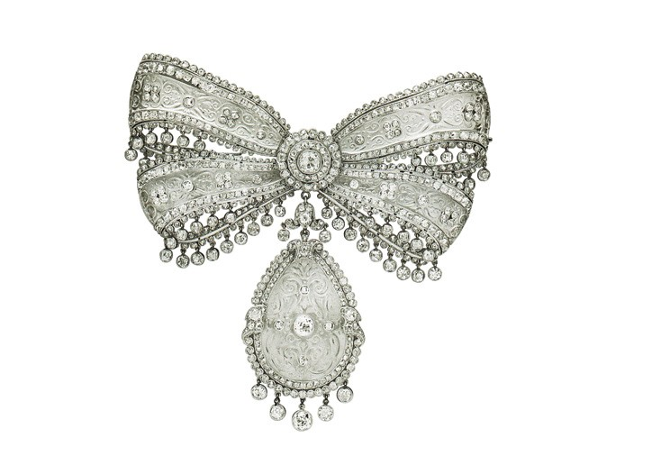 A Belle Epoque brooch by Cartier that fetched more than $1 million at Christie's on Wednesday night.
