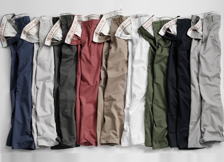 The brand's new colored soft khaki program.