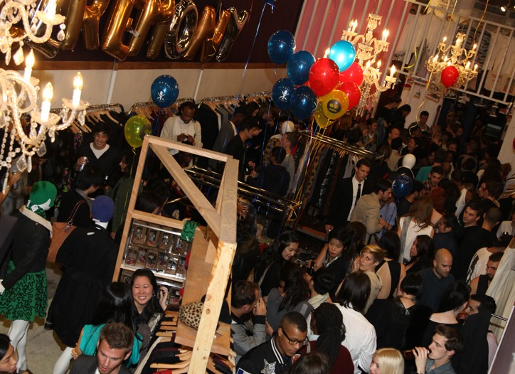 The crowd at Opening Ceremony downtown during Fashion's Night Out.