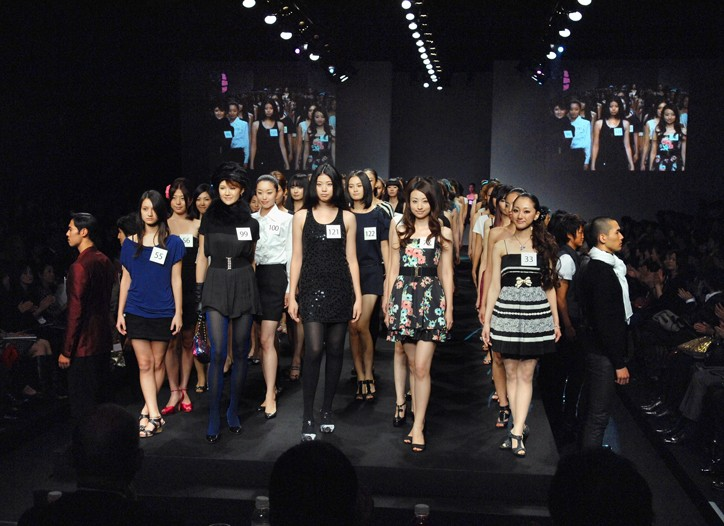 Ambiance from Japan Fashion Week's special event aimed at finding new modeling talents in Asia.