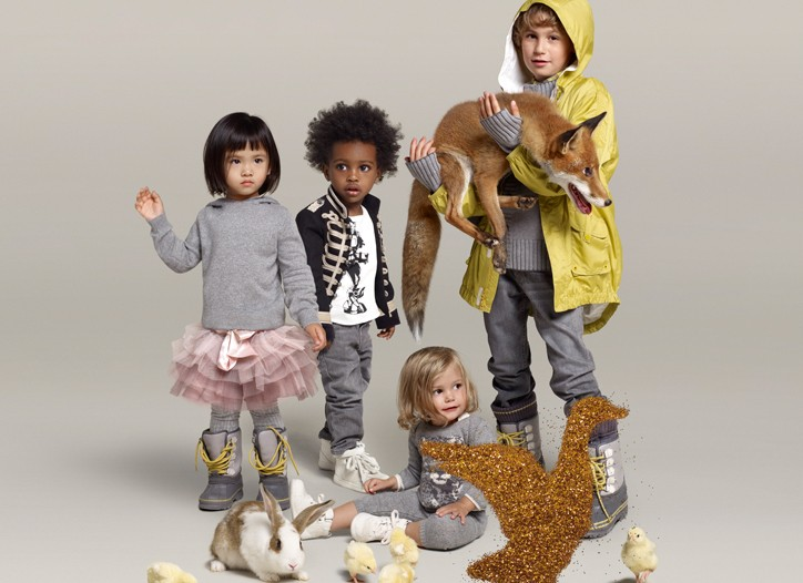 A shot from the campaign for Stella McCartney's first children's collections for GapKids and babyGap.