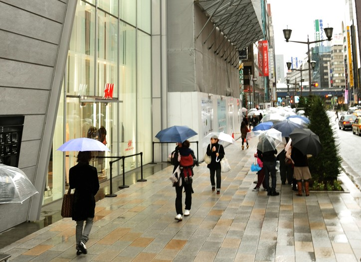 H&M in Ginza, Tokyo.