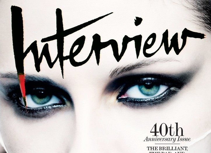 40th anniversary issue of Interview.