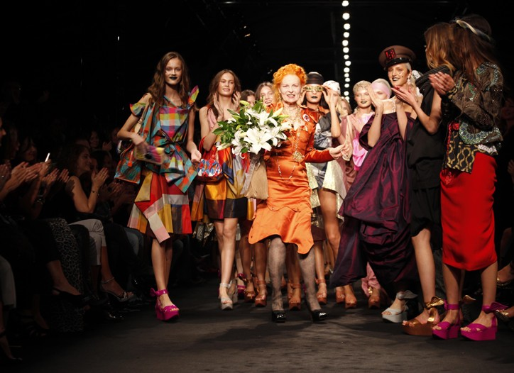 Vivienne Westwood takes a bow.