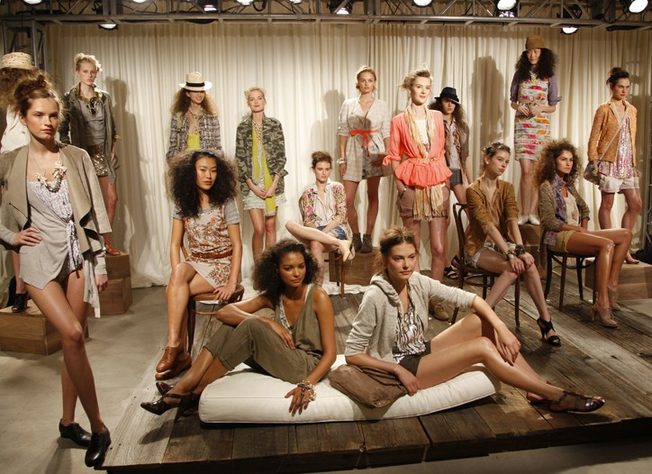 Looks from J. Crew's spring 2010 collection.
