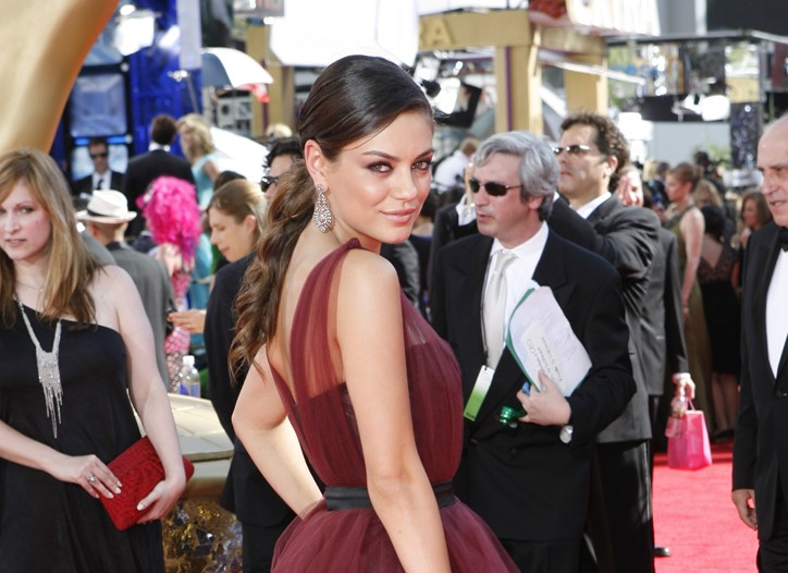 Mila Kunis wearing Fred Leighton jewelry at the 2009 Emmy Awards.