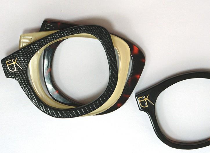 Eyewear-inspired bangles by Emmanuelle Khanh.