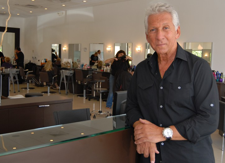 Peter Coppola in his Boca Raton salon.