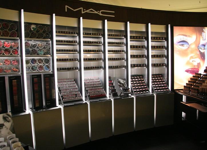 The MAC Cosmetics space inside Saks.