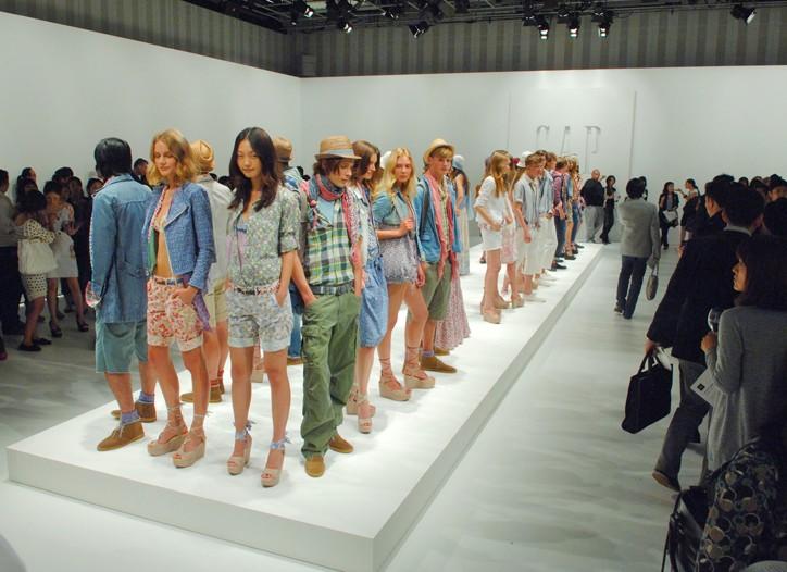 Models at Gap's fashion show.