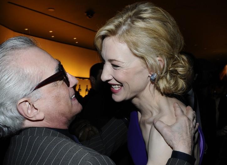 Martin Scorsese and Cate Blanchett in Giorgio Armani Privé.