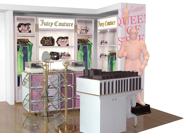 A rendering of the Juicy Couture shop in Miami International Airport.