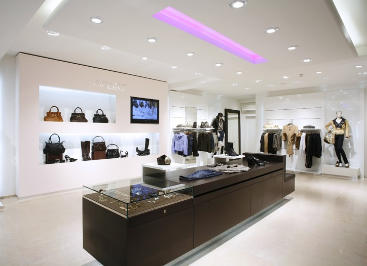Apart operates 10 company-owned stores worldwide.