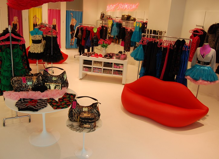 The new Betsey Johnson store in the Topanga Mall in Canoga Park, Calif.