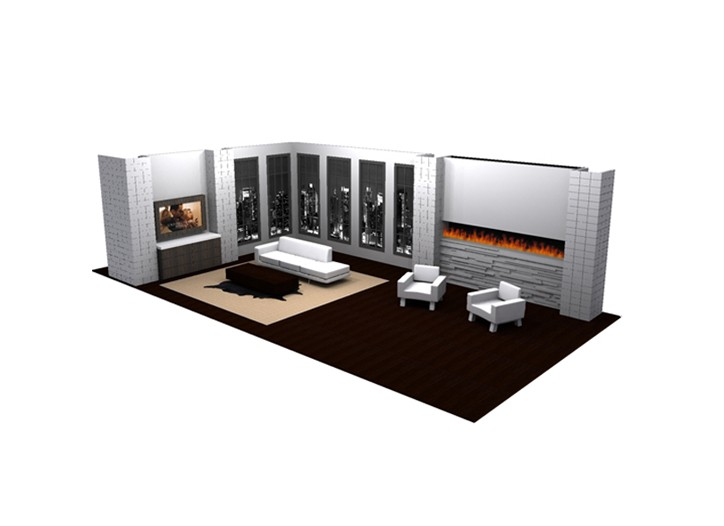 "A rendering of the set for Sean ""Diddy"" Combs' HSN appearance."