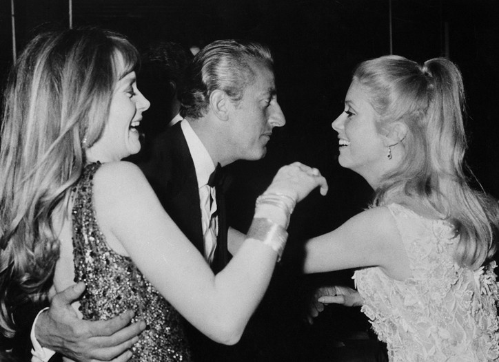 Benno Graziani and the Deneuve sisters.