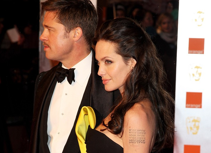 Brad Pitt and Angelina Jolie at the BAFTA Awards.