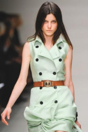 A Burberry look on the runway.