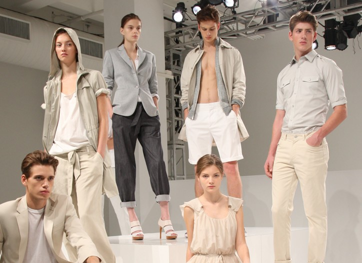 Looks from Calvin Klein's spring presentation.