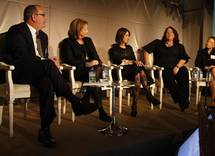 From left to right: Ron Frasch, Mindy Meads, Karen Katz, Betsey McLaughlin and Bonnie Brooks.