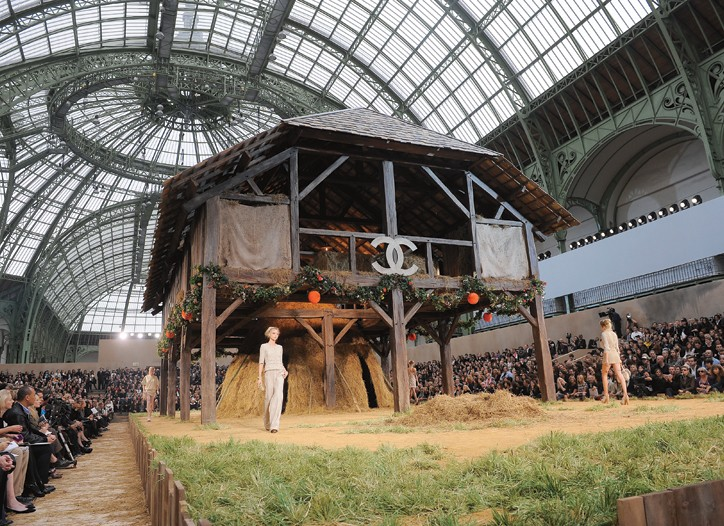 Chanel's chic barn at The Grand Palais.
