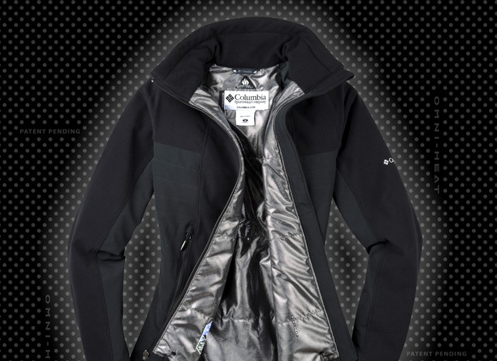 A women's Columbia Omni-Heat jacket.