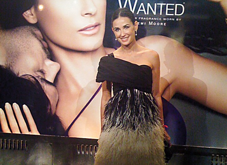 The face of Wanted, Demi Moore.
