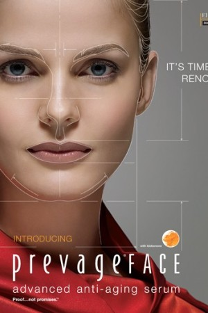 The Prevage ad visual.