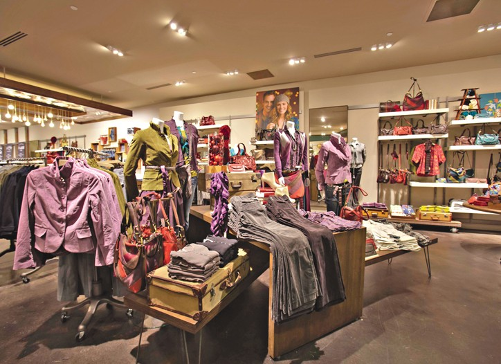 Fossil's new decor at its store at Stonebriar Centre in Frisco, Tex. The new decor is designed to show off the clothing well.