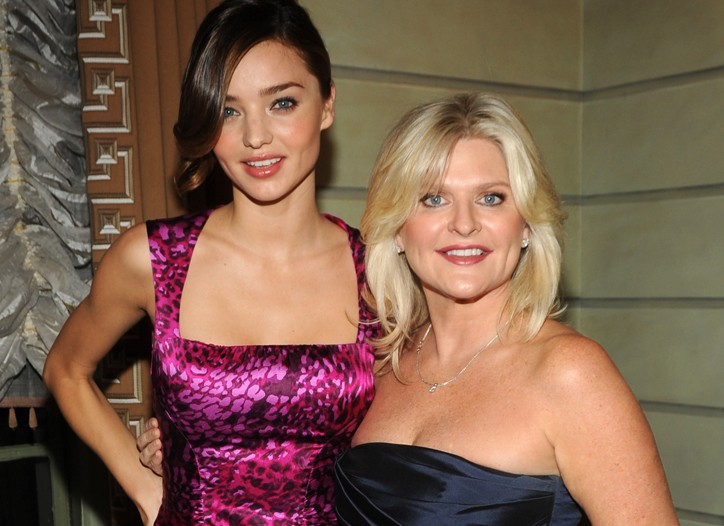 Victoria's Secret model Miranda Kerr and ceo Sharen Jester Turney.