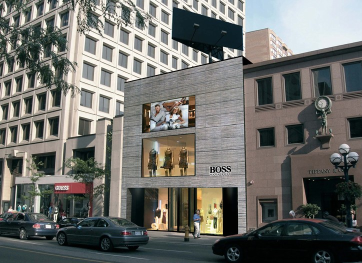 Hugo Boss' first stand-alone Boss store in Canada.