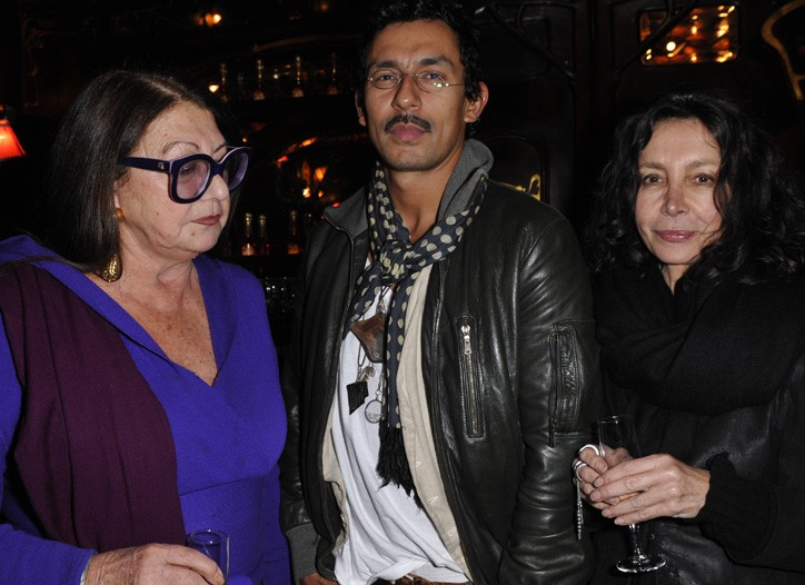 Emmanuelle Khanh with Haider Ackermann and Michele Montagne.