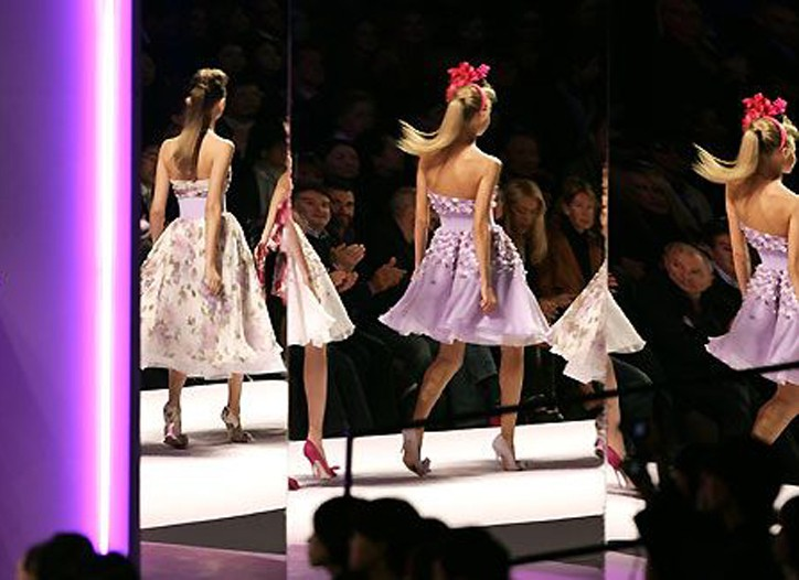 On the runway at Milano Moda Donna.