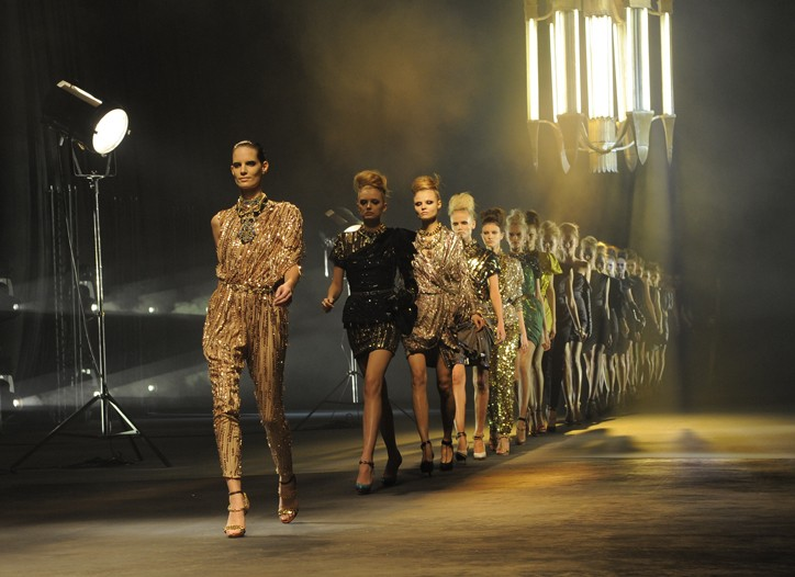 Runway looks from Lanvin's spring show.