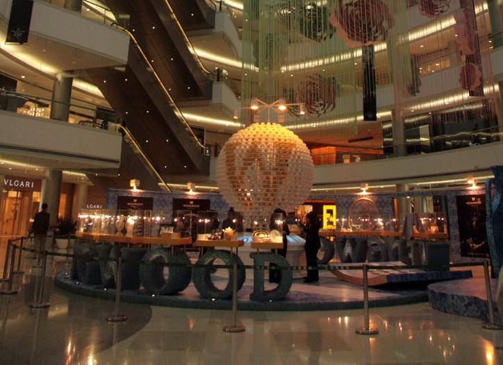 The atrium of Plaza 66 in Shanghai.