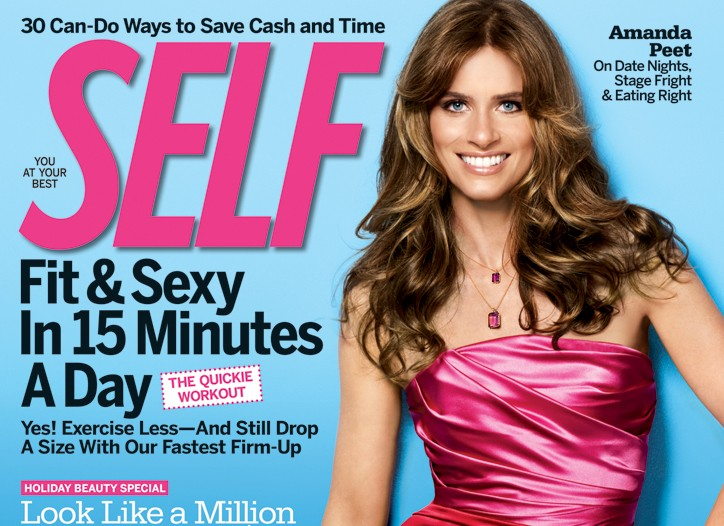 The December 2009 cover of Self magazine.