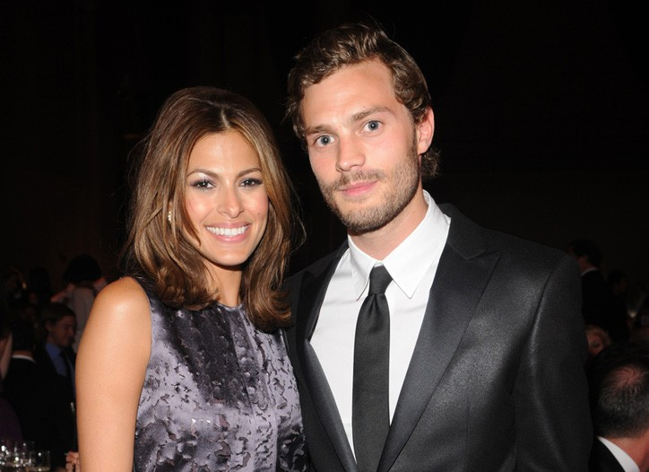 Eva Mendes and Jamie Dornan