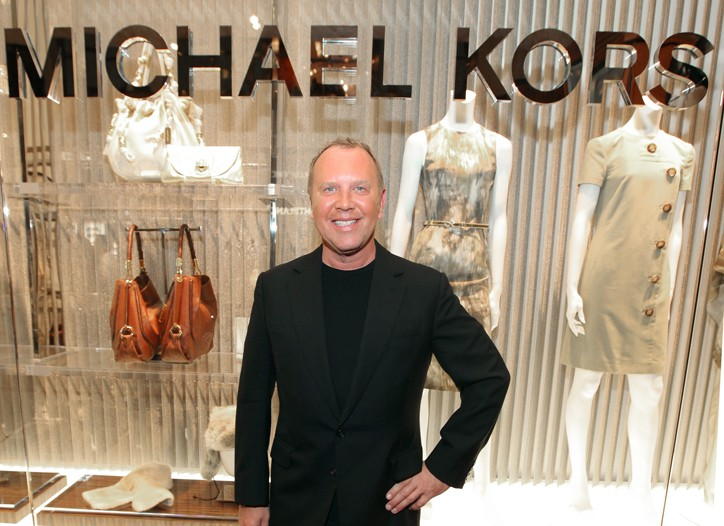 Michael Kors at his new store.