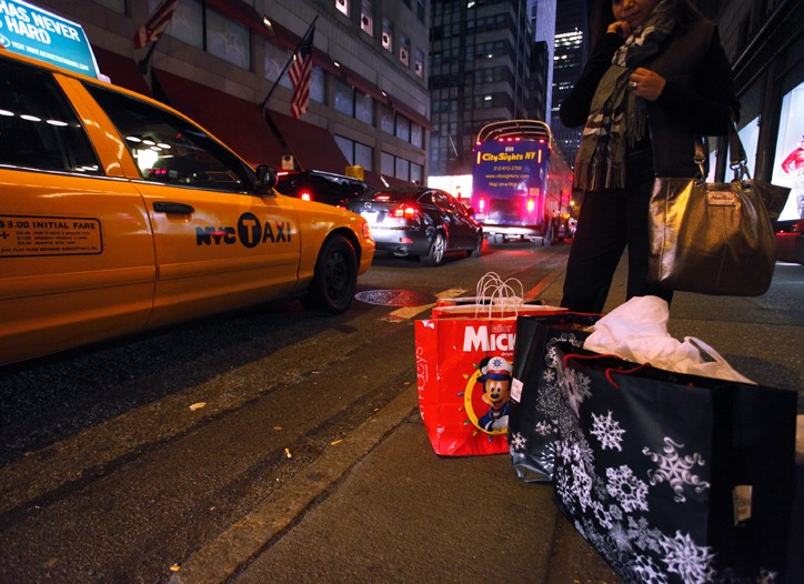 Shoppers out on Black Friday in New York.