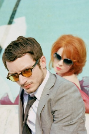 Elijah Wood and Shirley Manson for Oliver Peoples.