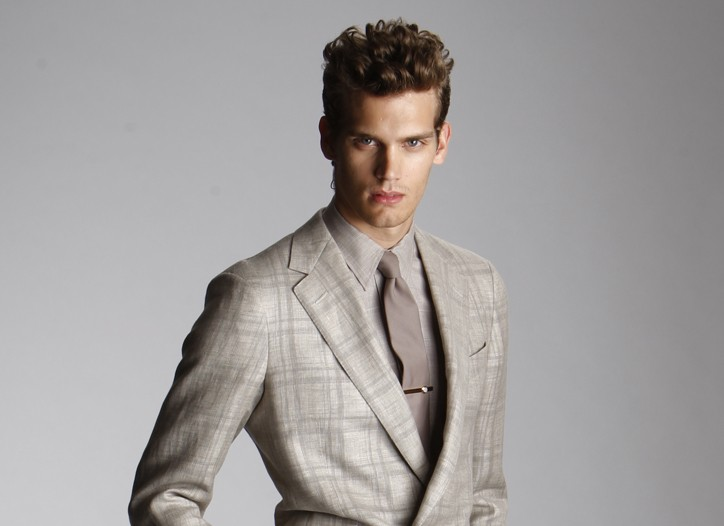 Ermenegildo Zegna's suit and shirt, Alexander Olch tie, Dunhill tie bar, Asprey watch and Florsheim by Duckie Brown shoes.
