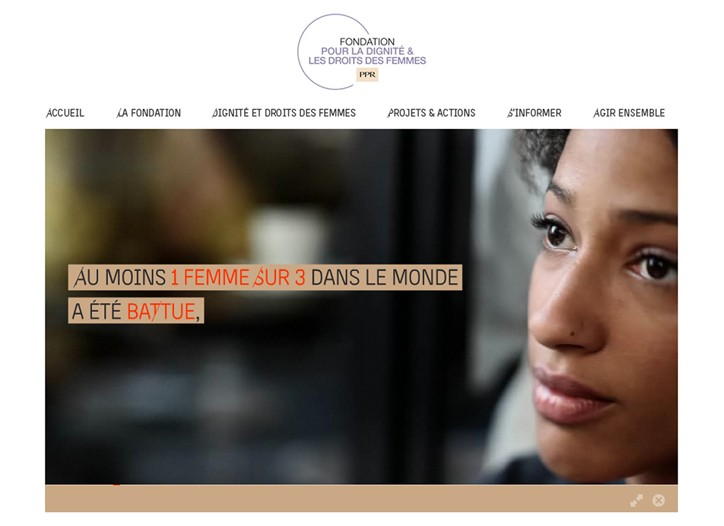 PPR's Corporate Foundation for Women's Dignity new site.