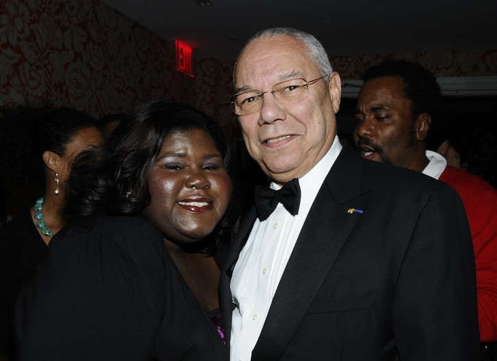 Gabourey Sidibe and Colin Powell