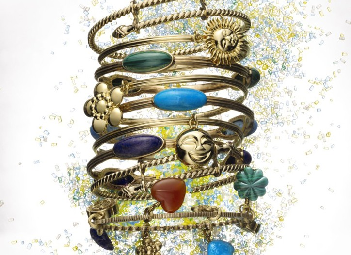 "Bangles from the ""Garden of Stephen"" collection."