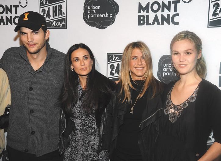 Ashton Kutcher, Demi Moore, Jennifer Aniston and Julia Stiles.