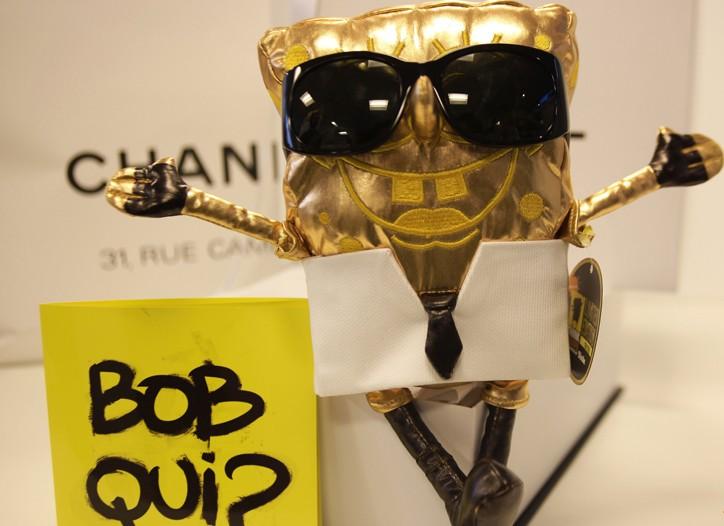 SpongeBob customized by Karl Lagerfeld.